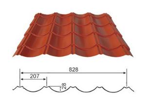 YX28-207-828 琉璃彩钢瓦 (屋面)